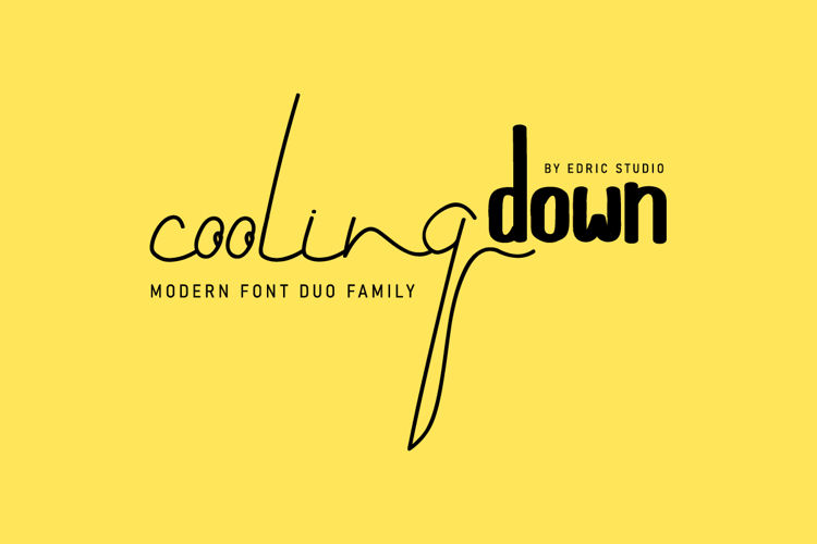 Cooling Down Font