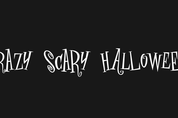 crAZY SCARY halLowEeN Font