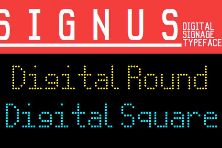 Signus Digital Round NBP Font