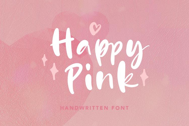 Happy Pink Font