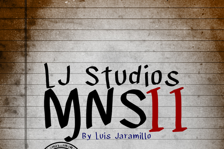LJ Studios MNS 2 Font