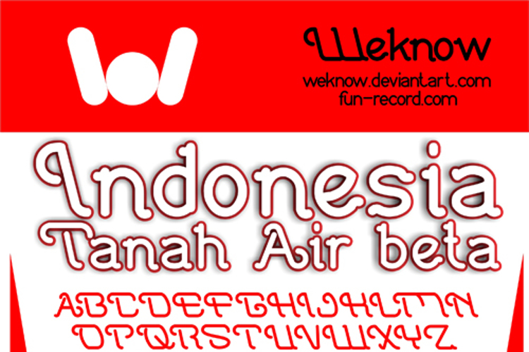 Indonesia Tanah Air Beta Font