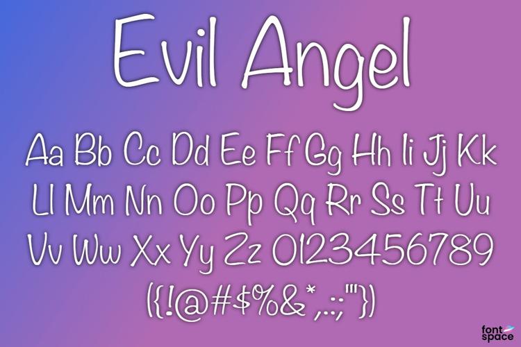 BB Evil Angel Font