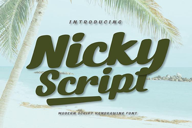 Nicky Script Font