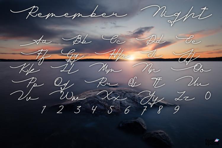 Remember Night Font