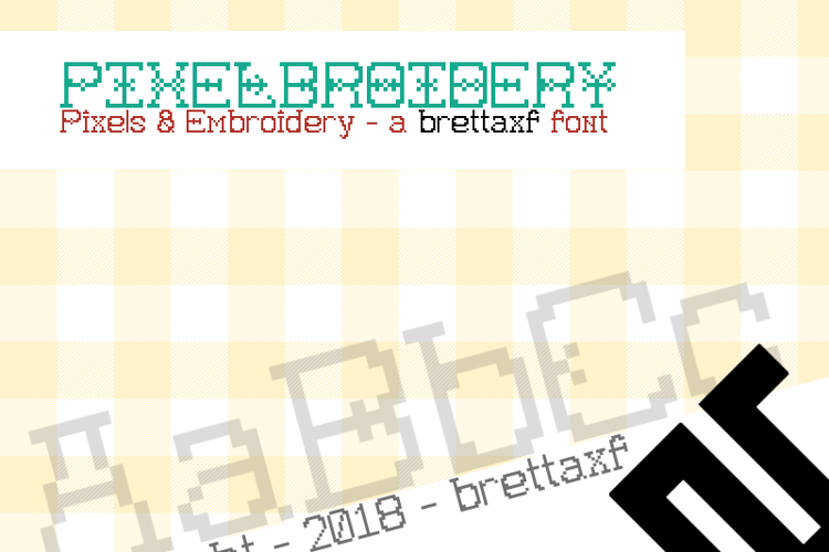 Pixelbroidery Font