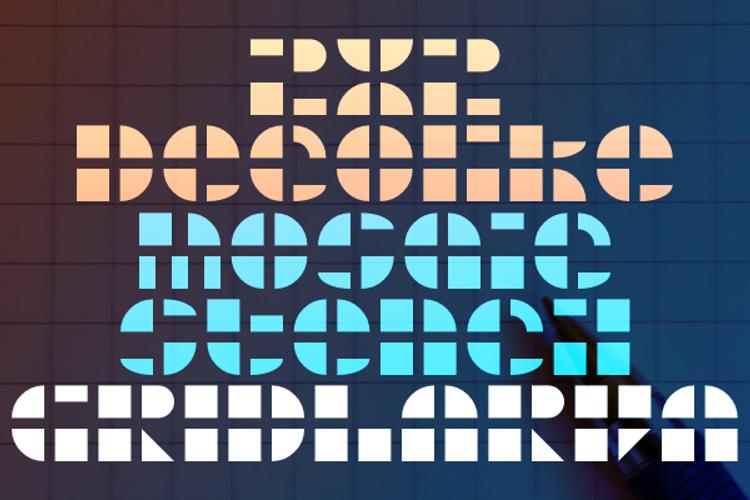Gridlarva Font