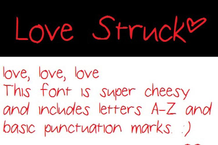 LoveStruck Font