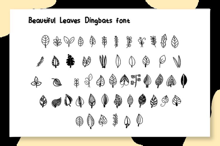 Beautiful leaves Font