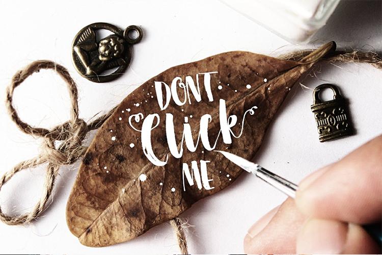 Dont Click Me Font