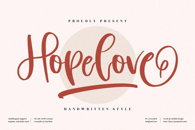 Hopelove Font