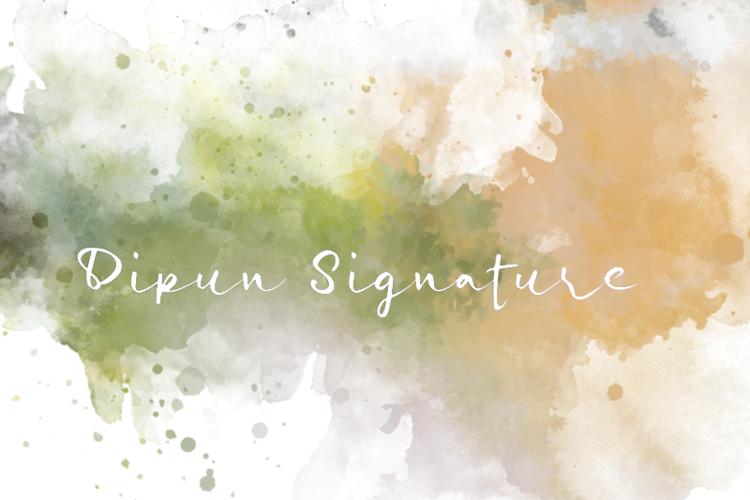 d Dipun Signature Font