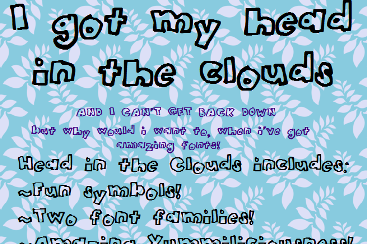HeadintheClouds Font