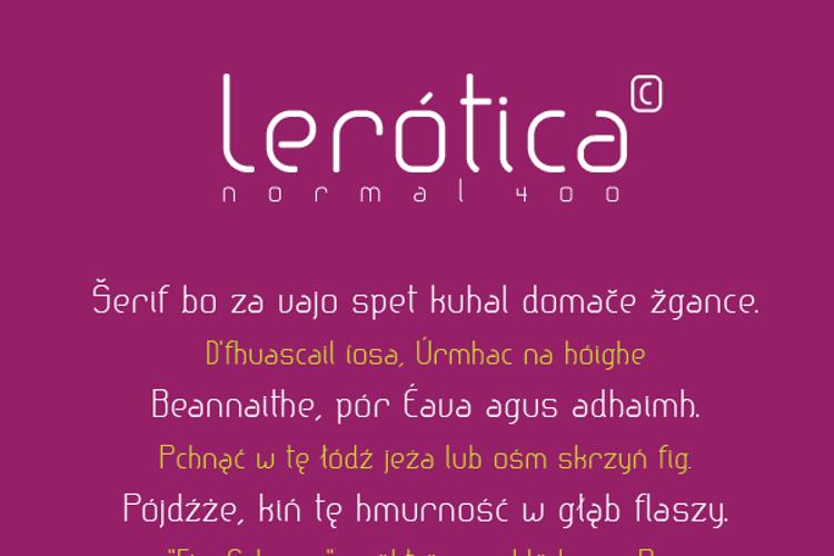 lerotica Font