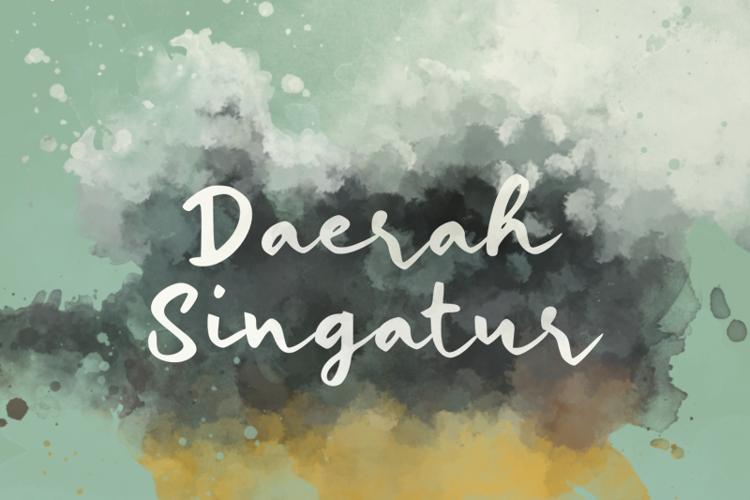 d Daerah Singatur Font
