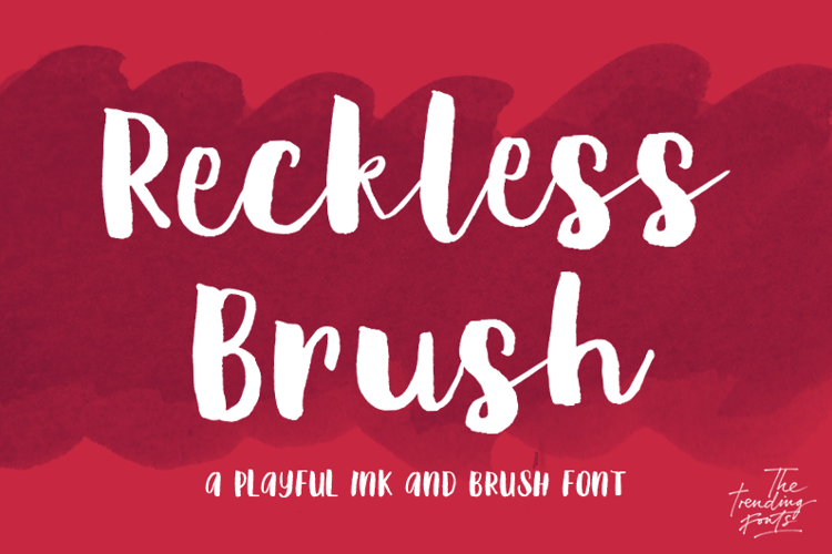 Reckless Brush Font