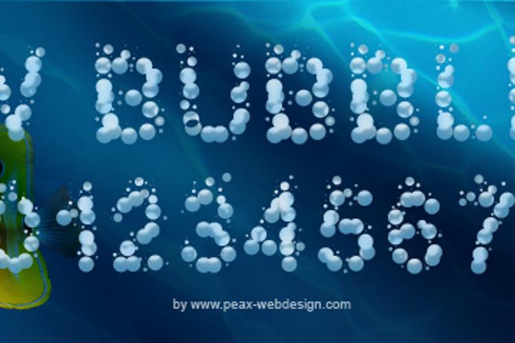 PWBubbles Font