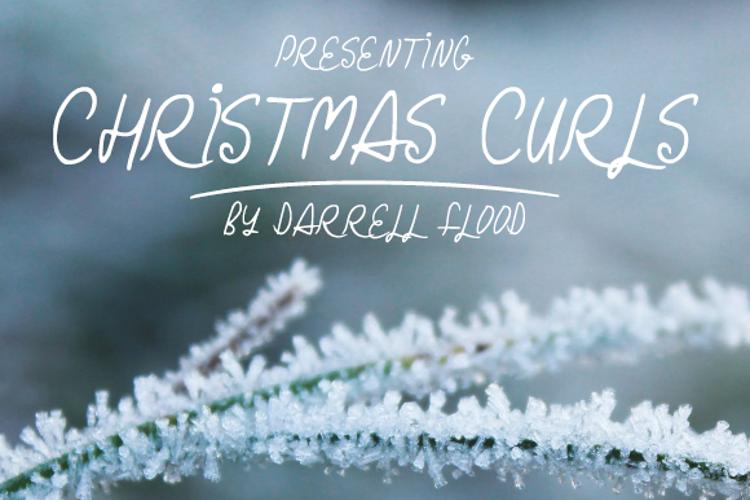 Christmas Curls Font