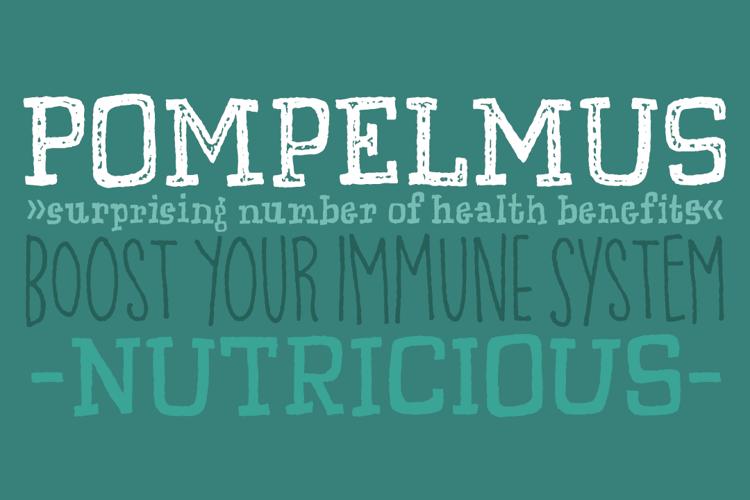 Pompelmus Crispy DEMO Font