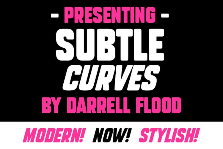 Subtle Curves Font
