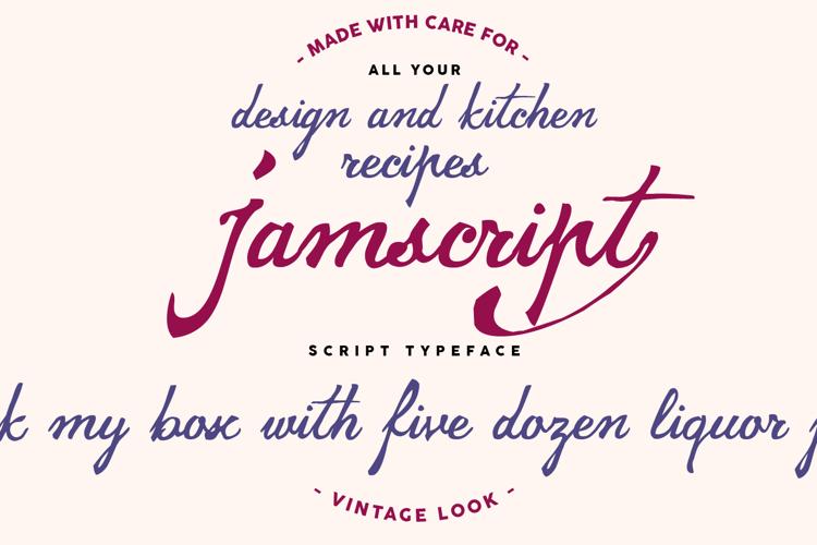 jamscript Font