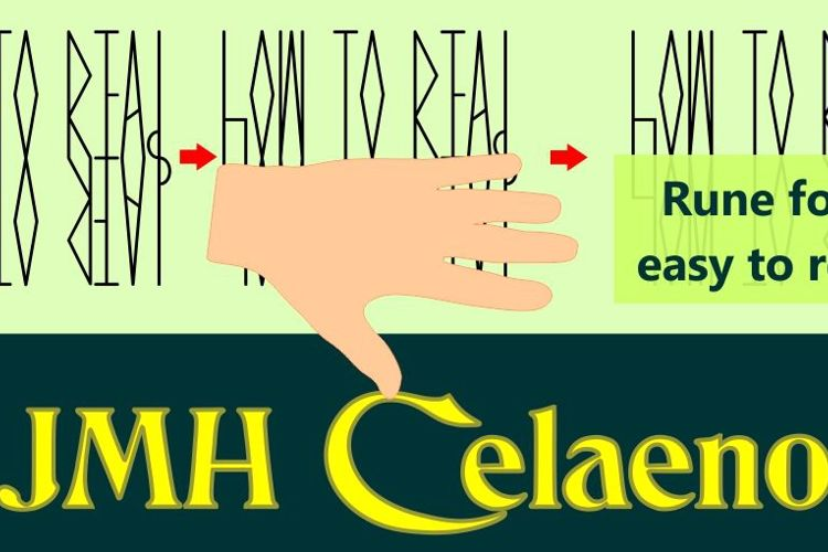 JMH Celaeno Book Font