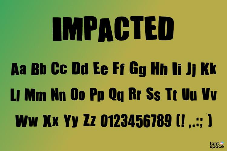 IMPACTED Font