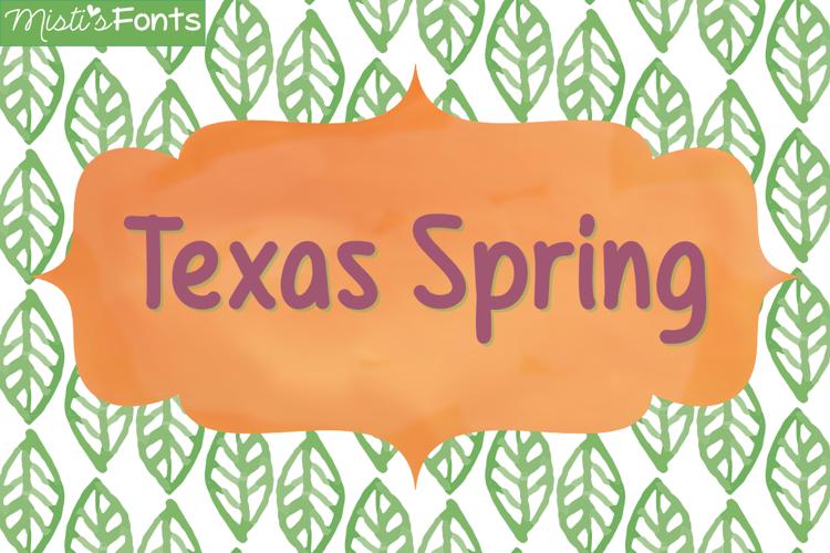 Mf Texas Spring Font