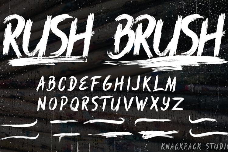 Rush Brush Font