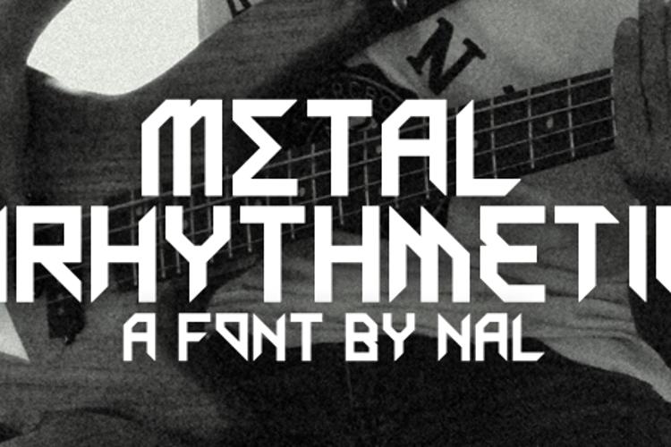 Metal Arhythmetic Font