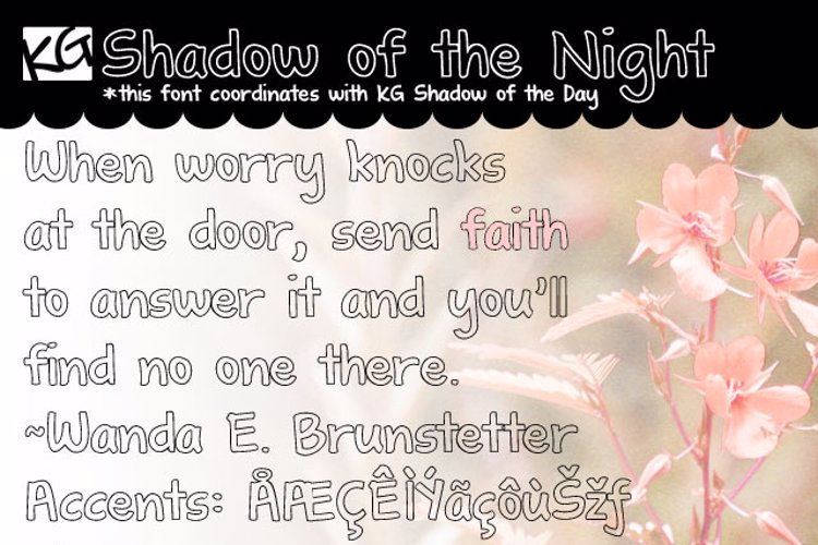KG Shadow of the Night Font