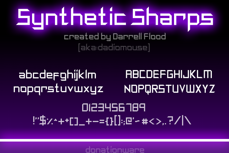 Synthetic Sharps Font