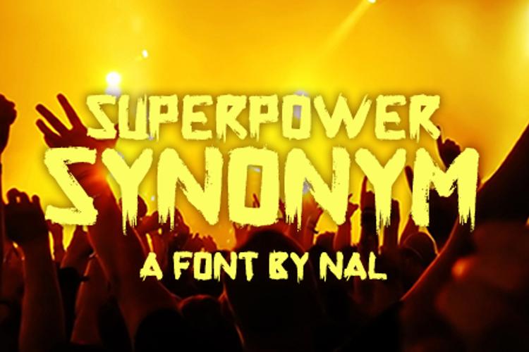 Superpower Synonym Font