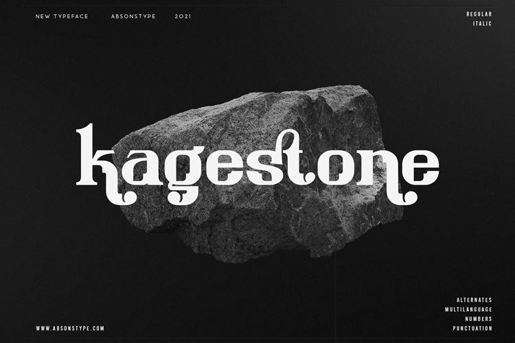 Kagestone Font