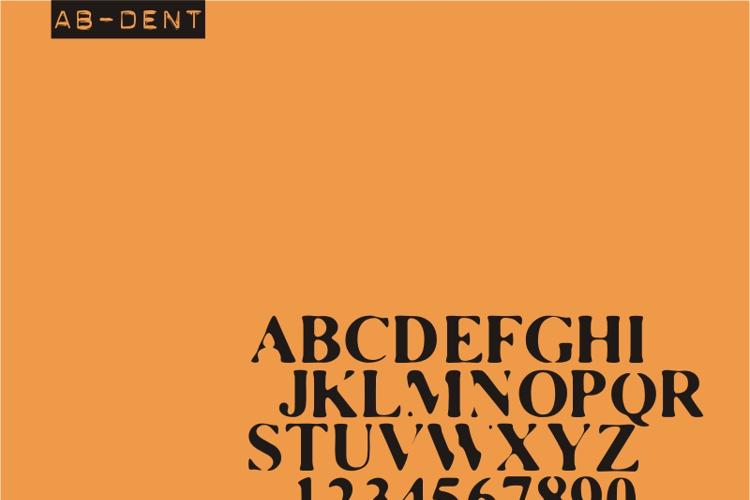 AB Dent Font