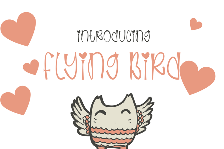 Flying Bird Font
