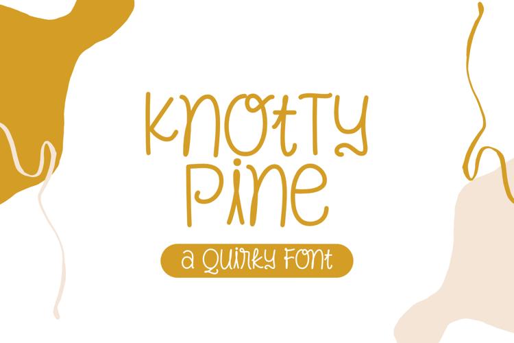 Knotty Pine Font