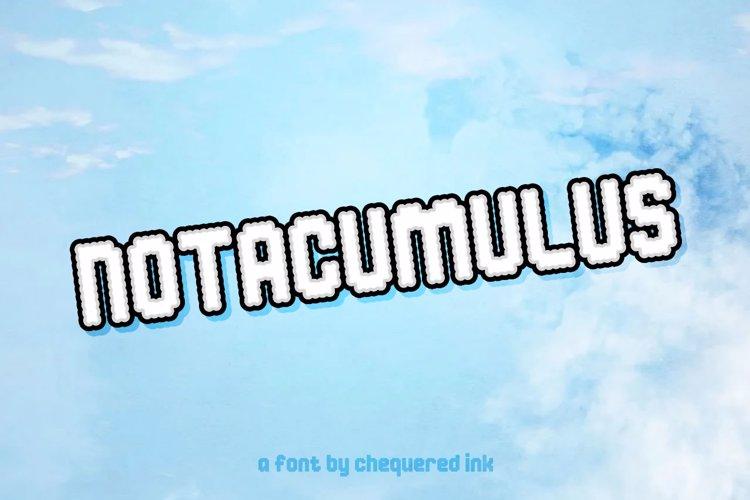 Notacumulus Font