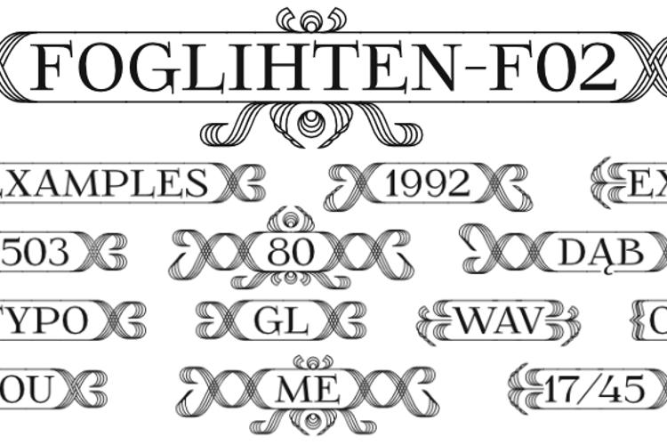 FoglihtenFr02 Font