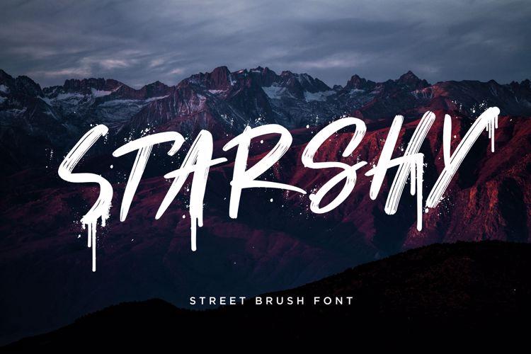 Starshy Street Brush Font