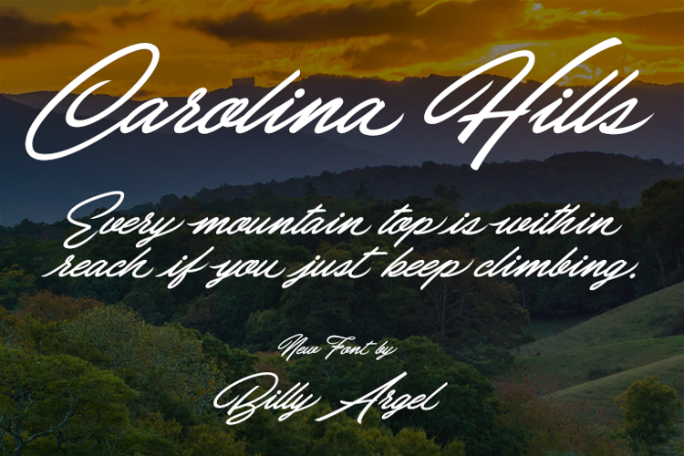 Carolina Hills Font