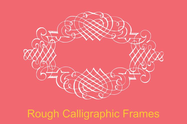 Rough Calligraphic Frames Font