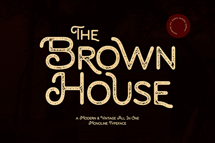 Brown House Stamp Font
