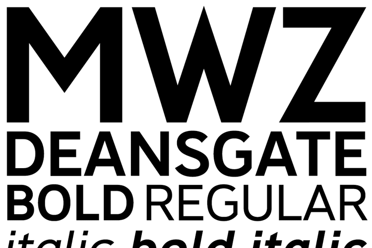 Deansgate Condensed Font