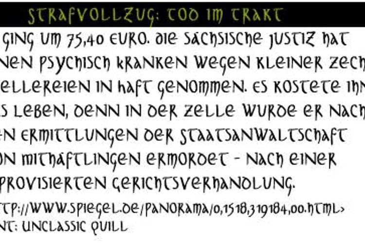 UnclassicQuill-Condensed Font