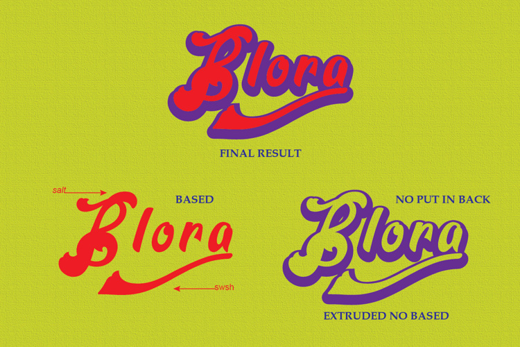 Blora Based Font
