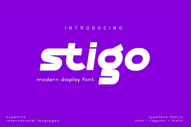 Stigo REG PERSONAL Font