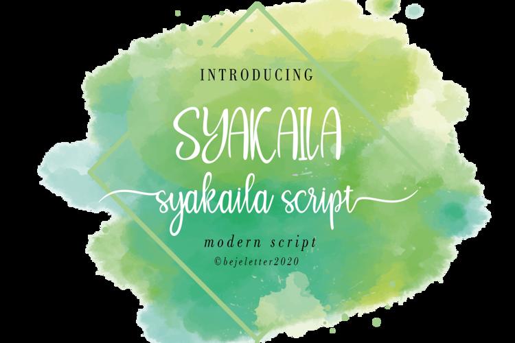 Syakaila Script Font