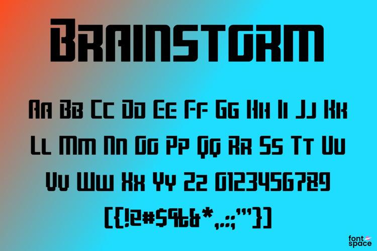 Brainstorm Font