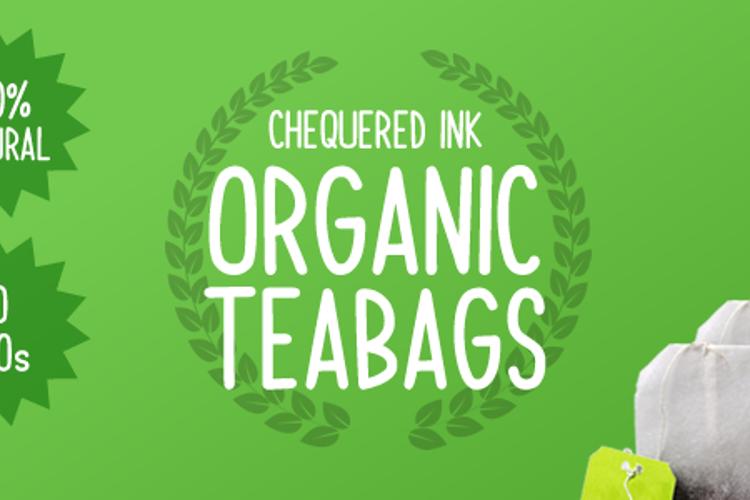 Organic Teabags Font